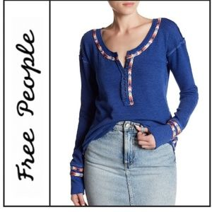 New Free People Trim Thermal Top Size M